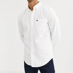 Abercrombie & Fitch White Button-Down Shirt